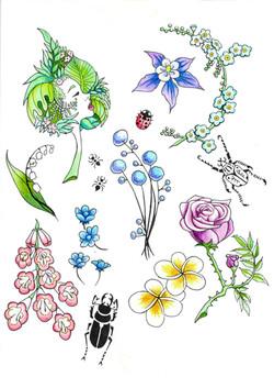 planche flash fleur  - copie
