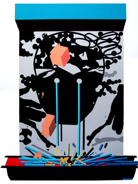 Sin título.2002 (86 x 69 cm) Gouache recortado