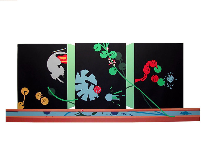 Jardin japones,2002.Collage.Collage.Goua