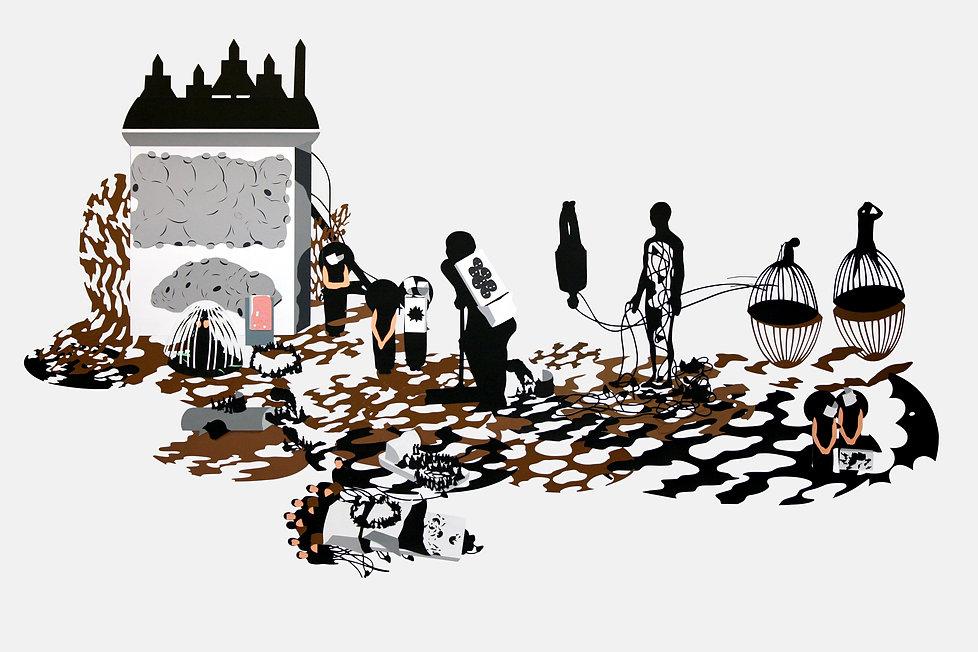 Desdudado barroco,2009 (127x208cm) gouac