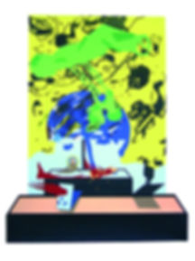 SABATICO,2005.Collage,cartulina,tempera(