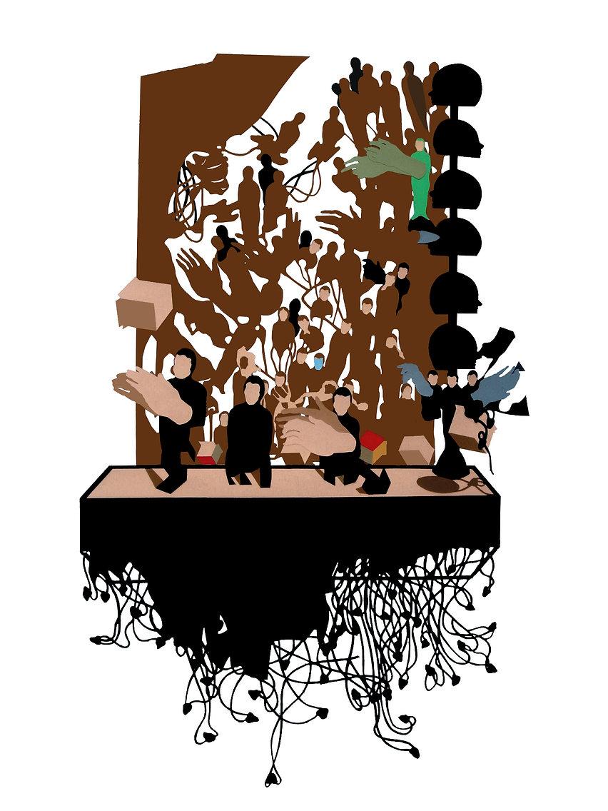 Carbonera de extrarradio,2005.Collage.Go