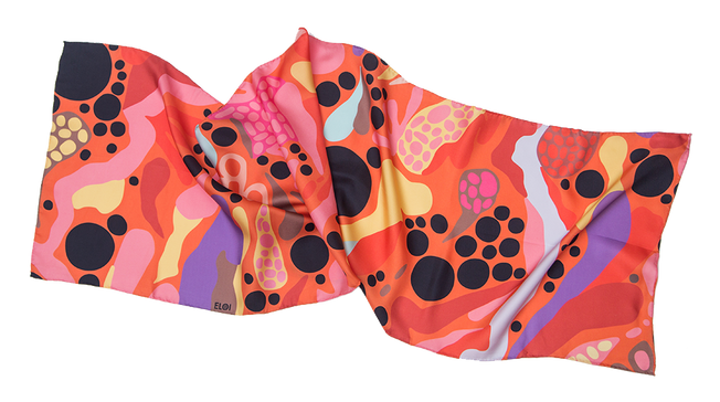 Alida hotel, oblong silk scarf