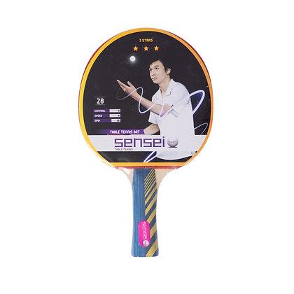 Paleta De Ping Pong Tenis De Mesa Sensei 3 Estrellas