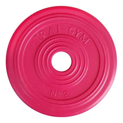 Disco de PVC de 2.5kg para Mancuerna Trai Gym N°2