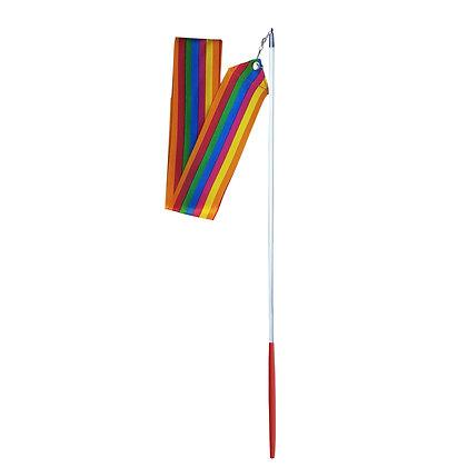Cinta Multicolor y Varilla para Gimnasia Rítmica