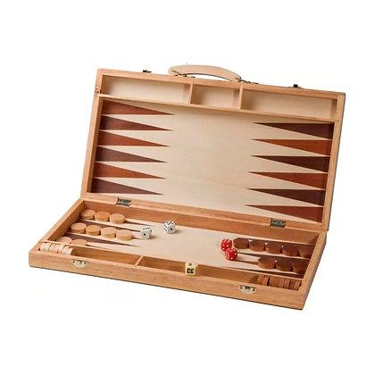 Backgammon Juego de Mesa con Maletín Madera Bisonte