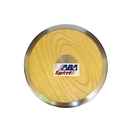 Disco de Lanzamiento de Atletismo Madera y Aluminio 2kg