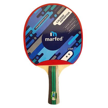 Paleta de Ping Pong Tenis de Mesa Marfed 2 Estrellas