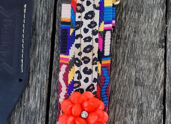 Xtra Fancy strap - Embellished rainbow woven
