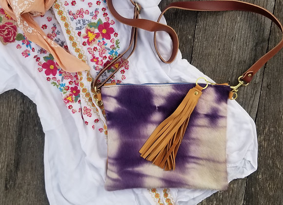 The Blake - Shibori Violet with Brown or Tan