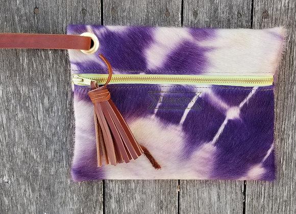 Flat Travel Bag - Violet Shibori