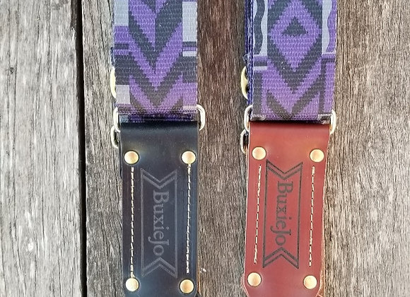 Fancy strap - Purple, Black & Gray woven