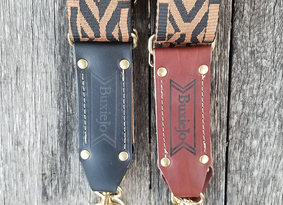 Fancy strap - Black and brown woven
