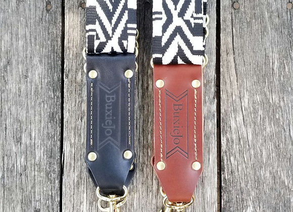 Fancy strap - Black and White woven