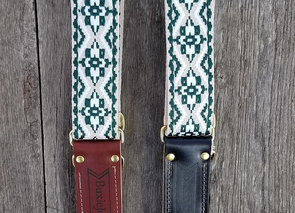 Fancy strap - Boho - Green and Cream