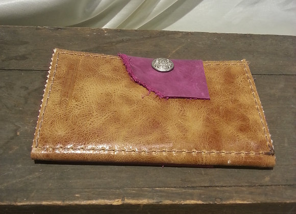 Brown and pink wallet