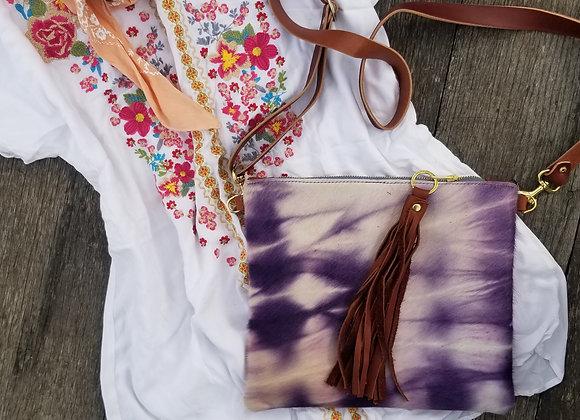 Wholesale The Blake - Shibori Violet with Brown