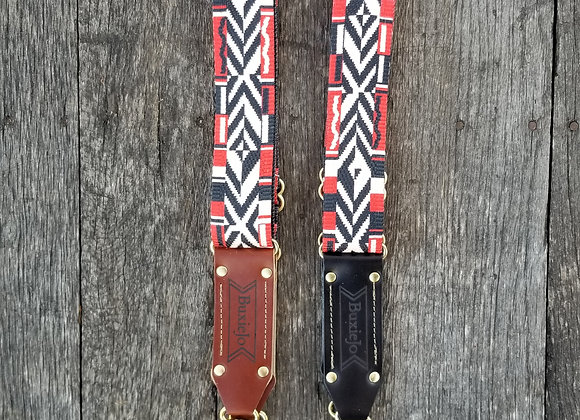 Wholesale Fancy strap - Black and Red Woven