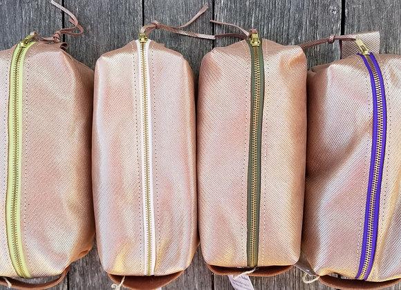 Dopp kit-Chain mail rose gold