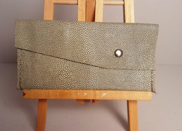 Speckled leather wallet
