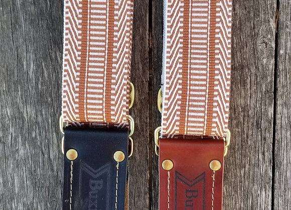 Fancy strap - Brown and white woven
