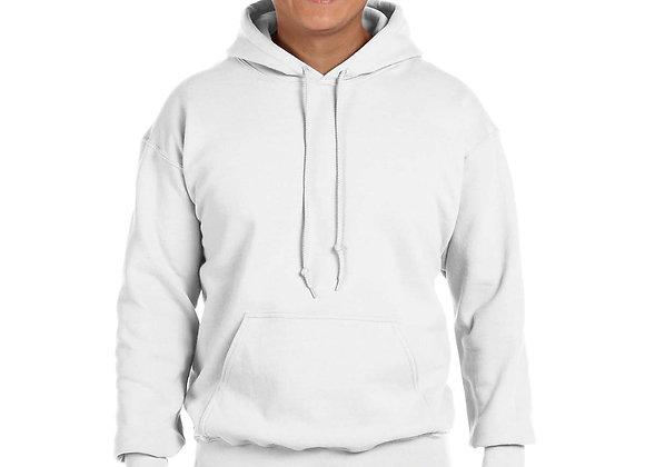 White Gildan G185 Hoodies