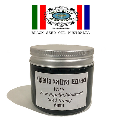 100% Concentrated Nigella Seed Extract With Raw Honey 60ml