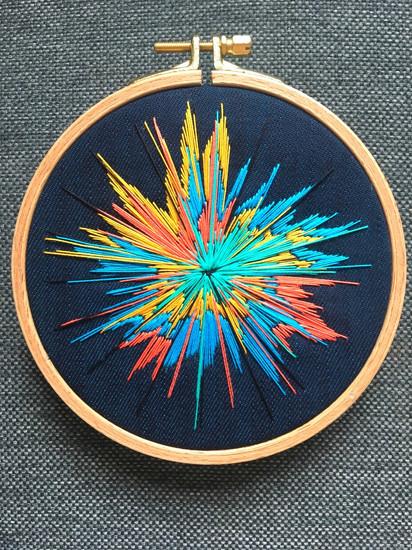 Starburst embroidery