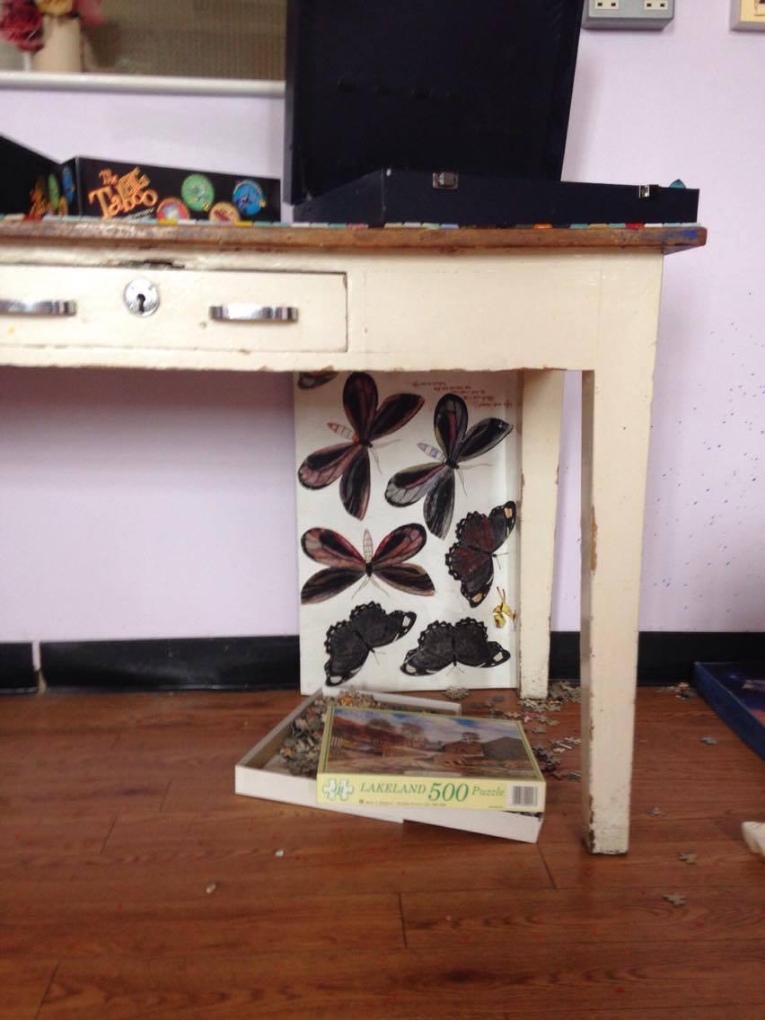 Something under the desk