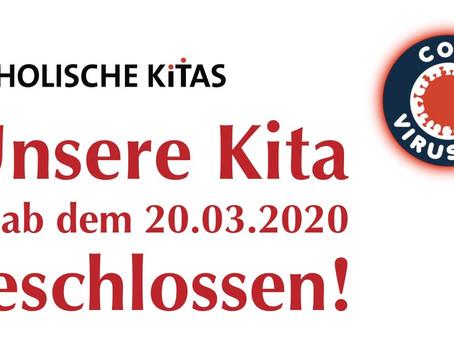 Ab dem 20.03.2020 geschlossen!