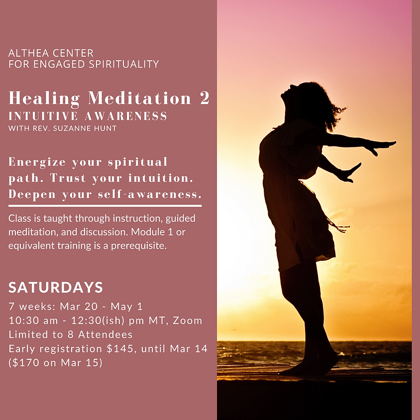 Healing Meditation 2 with Rev Suzanne Hunt
