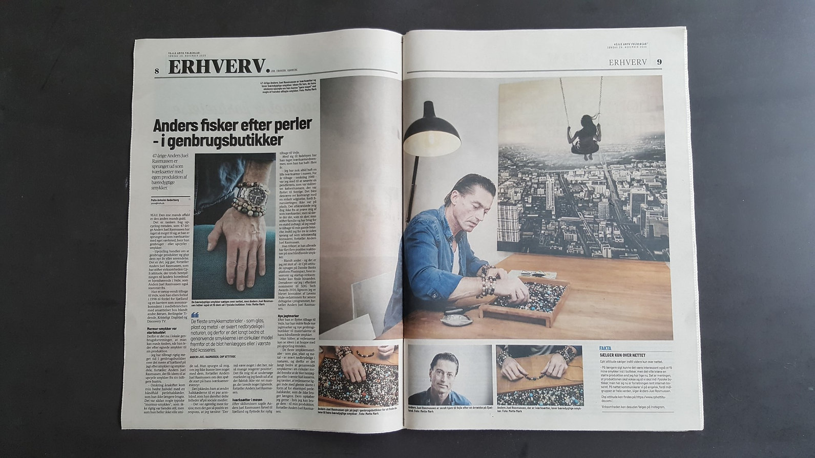 2page article about CPH'ATTITUDE Jewelry in danish paper VAF
