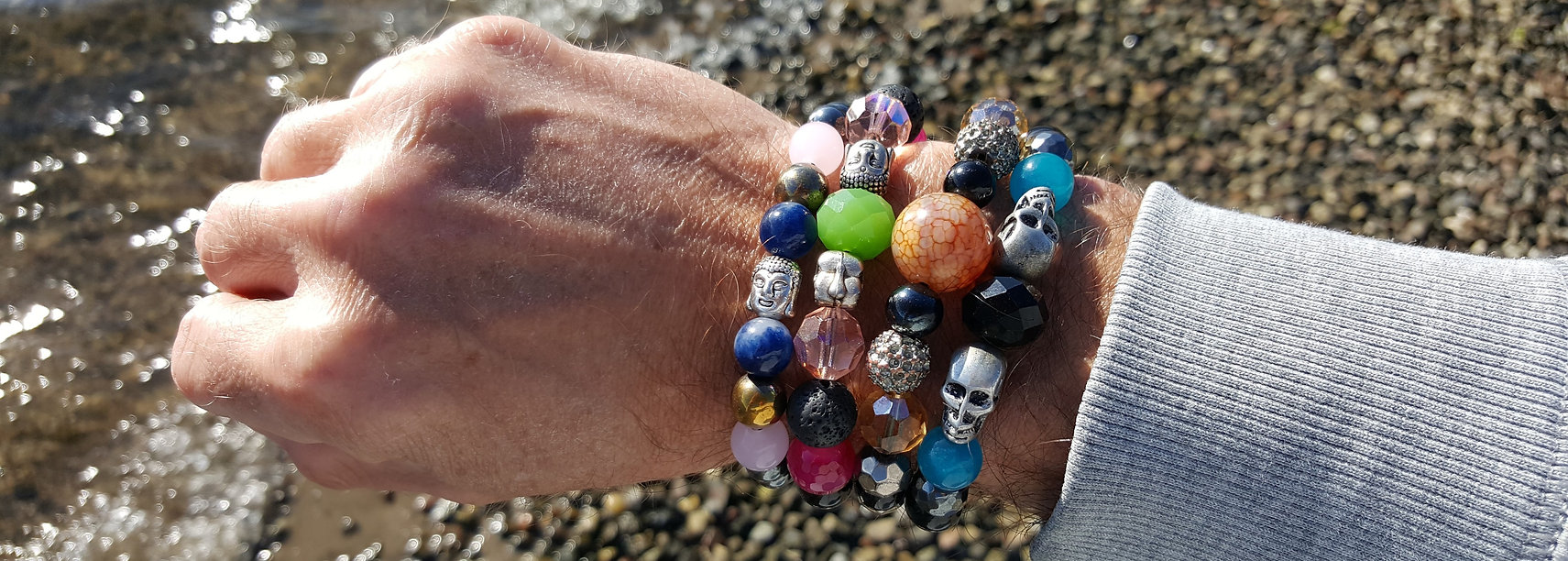 A bracelet stack from CPH'ATTITUDE Jewelry
