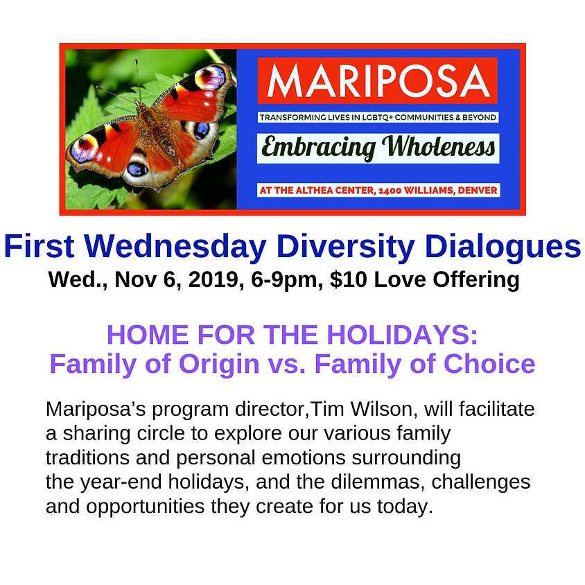 First Wednesday Diversity Dialogue: Home for the Holidays