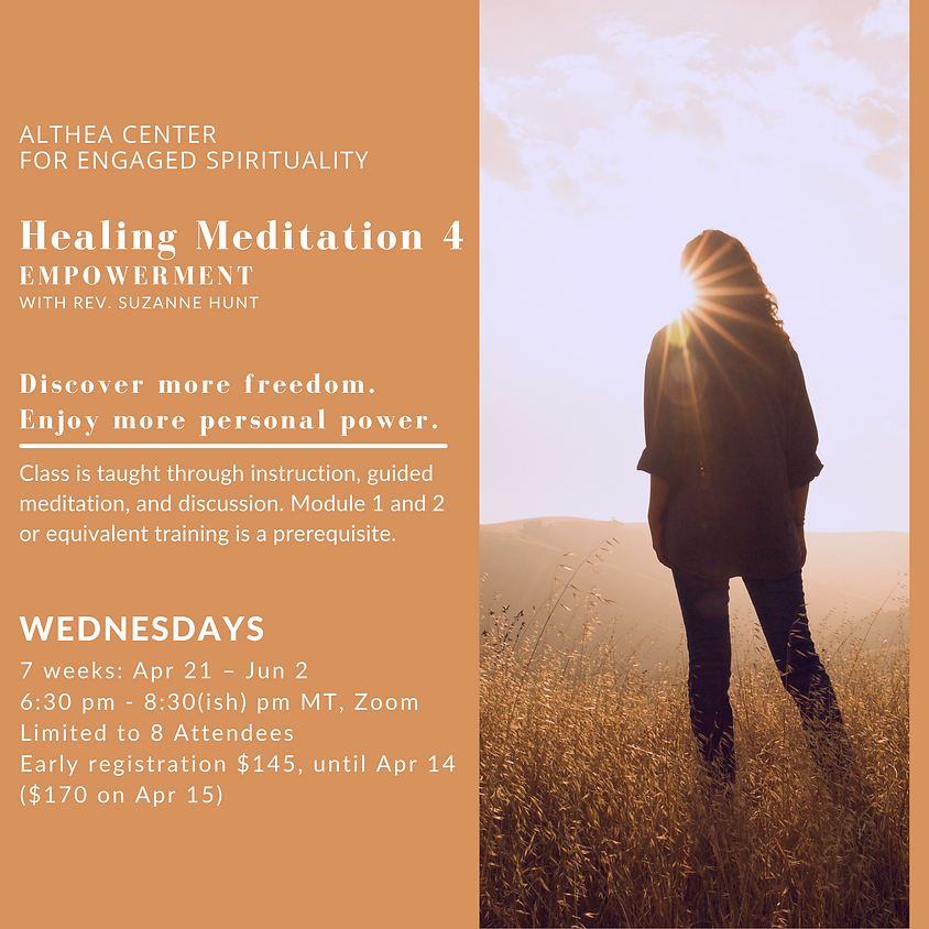 Healing Meditation 4  - Empowerment with Rev Suzanne Hunt