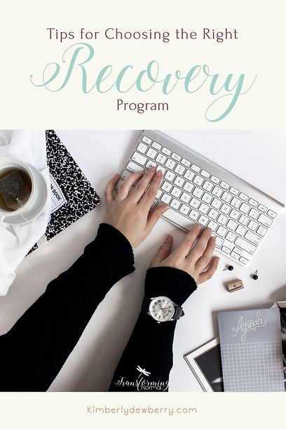 How to Choose the Right Recovery Program - How do I know a recovery program is right for me? Here are 5 tips to help you choose the right recovery program to fit your needs.
