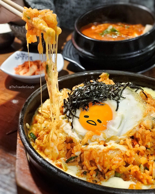 KIMCHI FRIED RICE with Melted Cheese