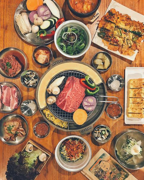 Flatlay-ing Korean BBQ
