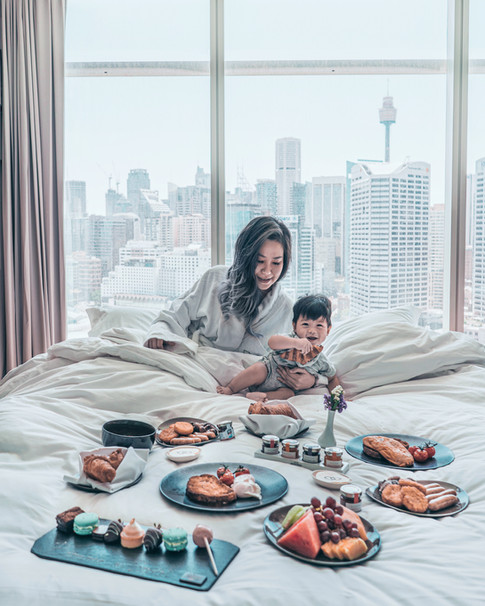 Breakfast in Bed at Sofitel Darling Harbour