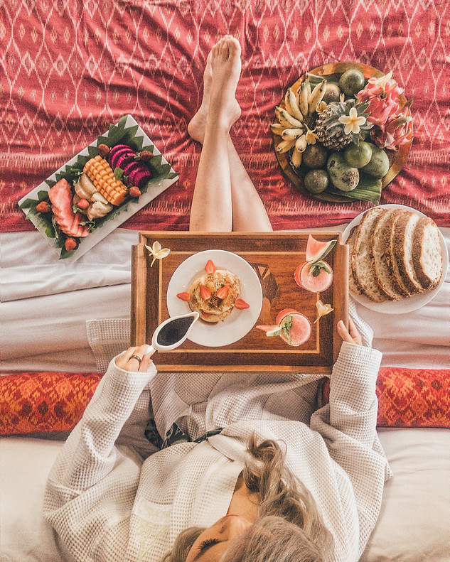 Breakfast in Bed at Alami Villa, Ubud - Bali