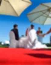 Roter Teppich für die freie Trauung, im