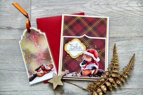 Elbi in der Weihnachtsbäckerei(Lesezeichenkarte für den Adventskalender II)
