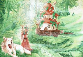 """""""Was für ein perfekter Morgen"""", freute sich die kleine Hexe."""
