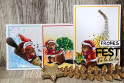 Karten und Illustration für den Adventskalender
