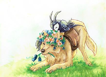 """Sie lächelt: """"Diese Blumen passen perfekt zu meinem Kranz."""" (Teil 2)"""