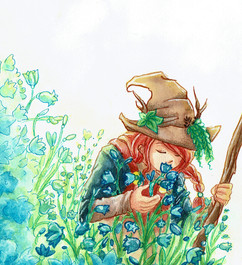 """Sie lächelt: """"Diese Blumen passen perfekt zu meinem Kranz."""""""
