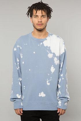Powder Blue Bleach Dye Crewneck Sweatshirt