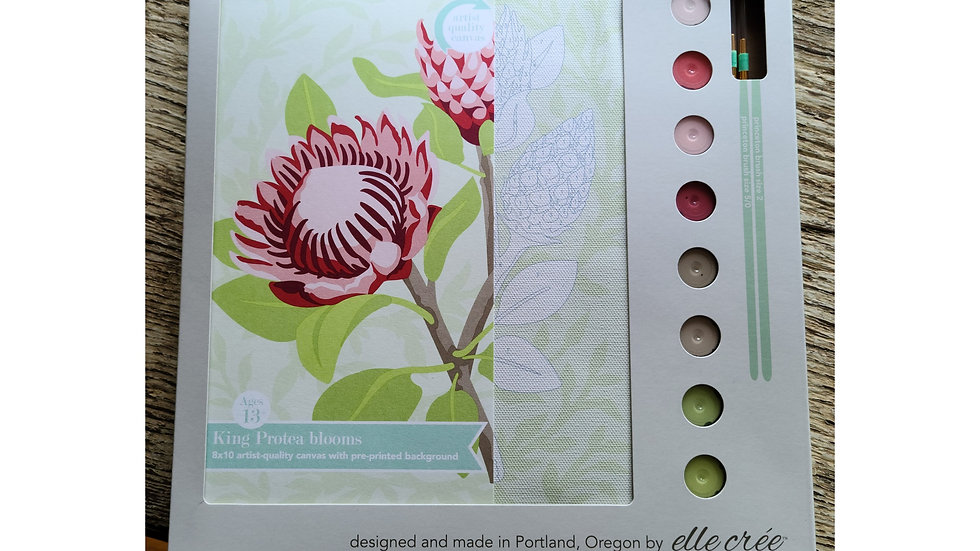 Floral paint by number