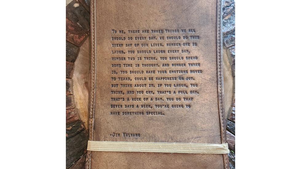 Leather Journal ~ Jim Valvano